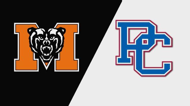 Mercer vs. Presbyterian (M Soccer)