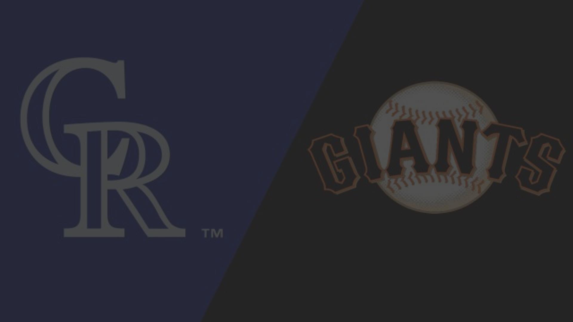 colorado rockies vs. san francisco giants - watchespn