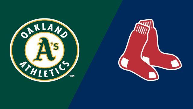Oakland Athletics vs. Boston Red Sox