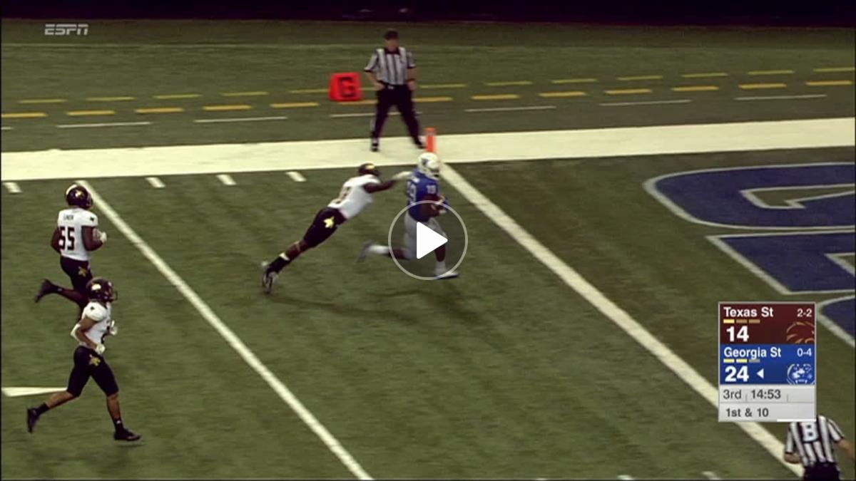 Georgia State WR Davis makes two men miss en route to 55-yard TD - ESPN Video